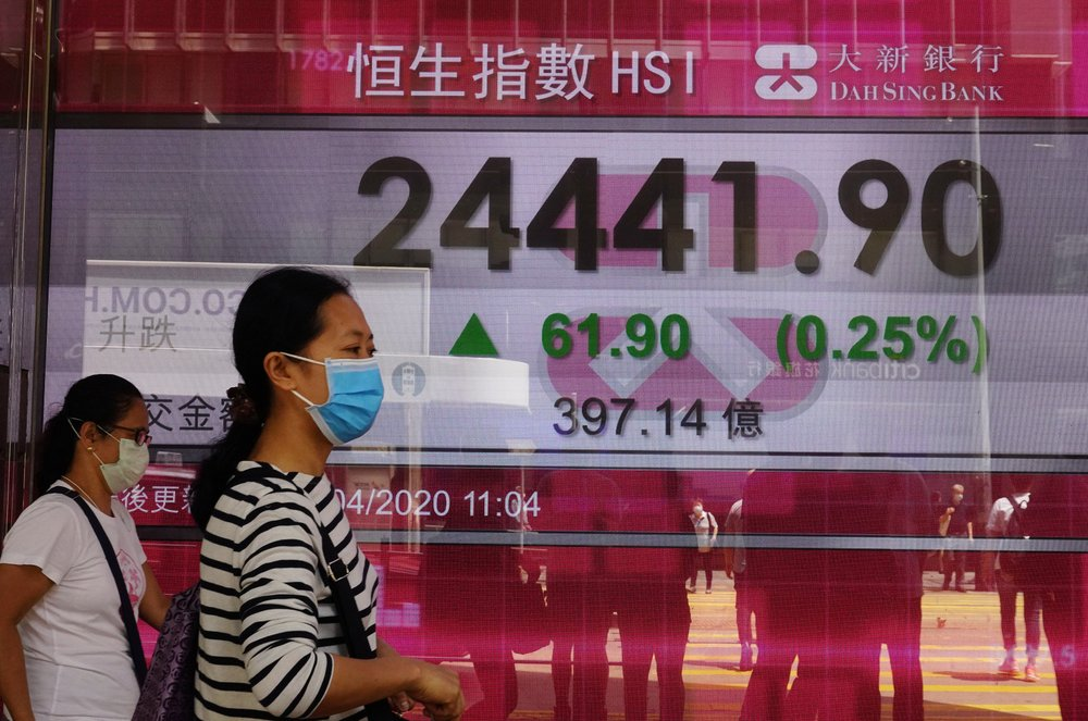 Asian shares mixed as oil prices fall back