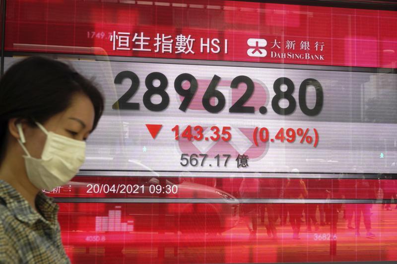 Asian stock markets mixed after Wall Street decline