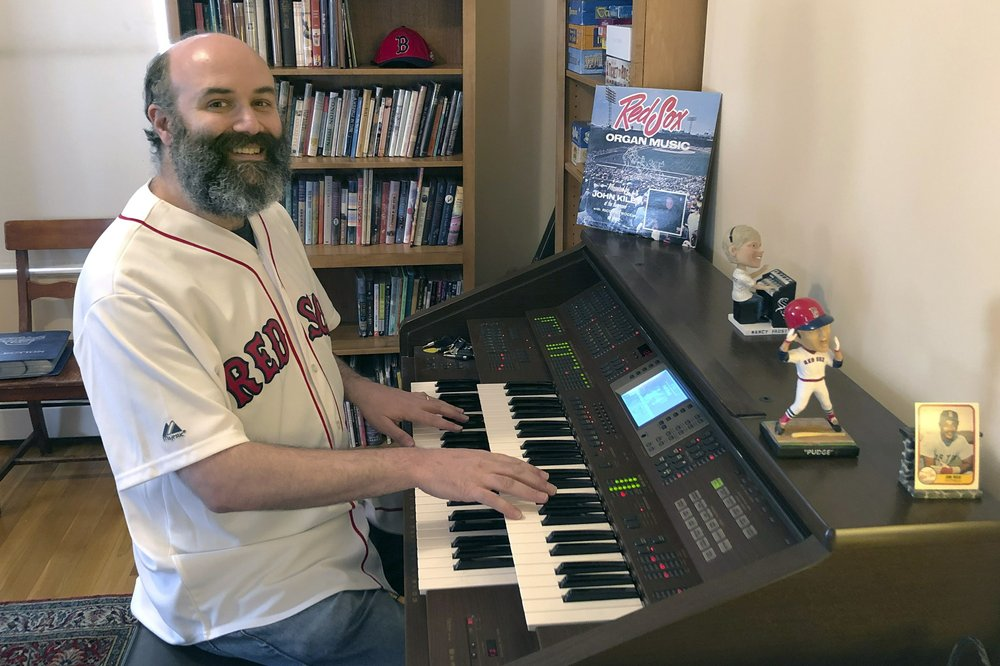 Fenway Park organist Josh Kantor  livestreams ballpark music and other fan requests on Facebook to recreate the community feeling baseball fans might be missing during the sport's shutdown
