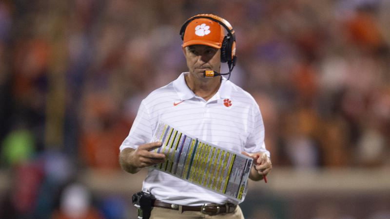 Coach Dabo Swinney Says Clemson is Not Confident Ahead of Matchup with Florida State