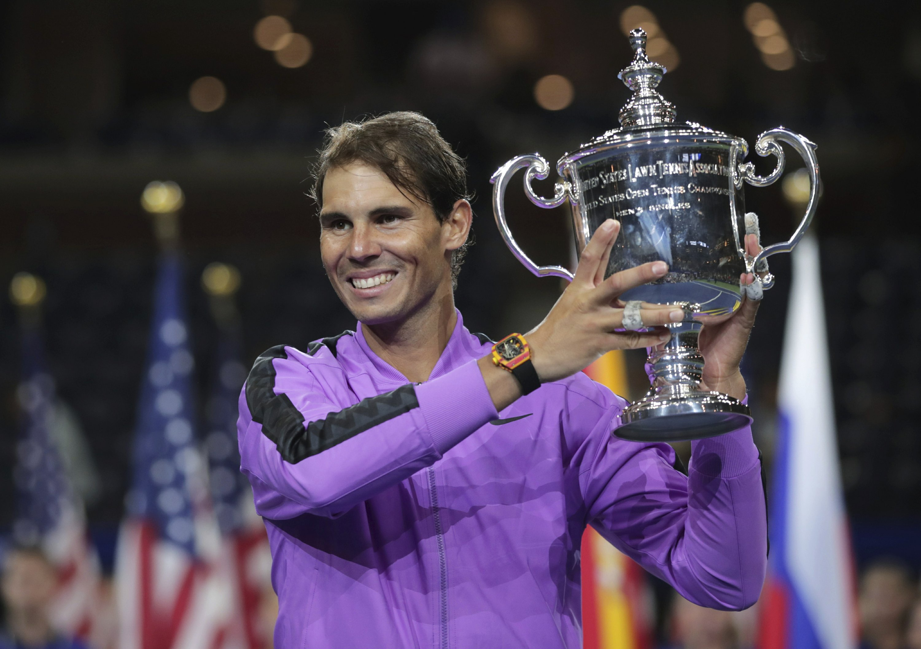 19 Slams: Nadal stops Medvedev comeback bid to win US Open