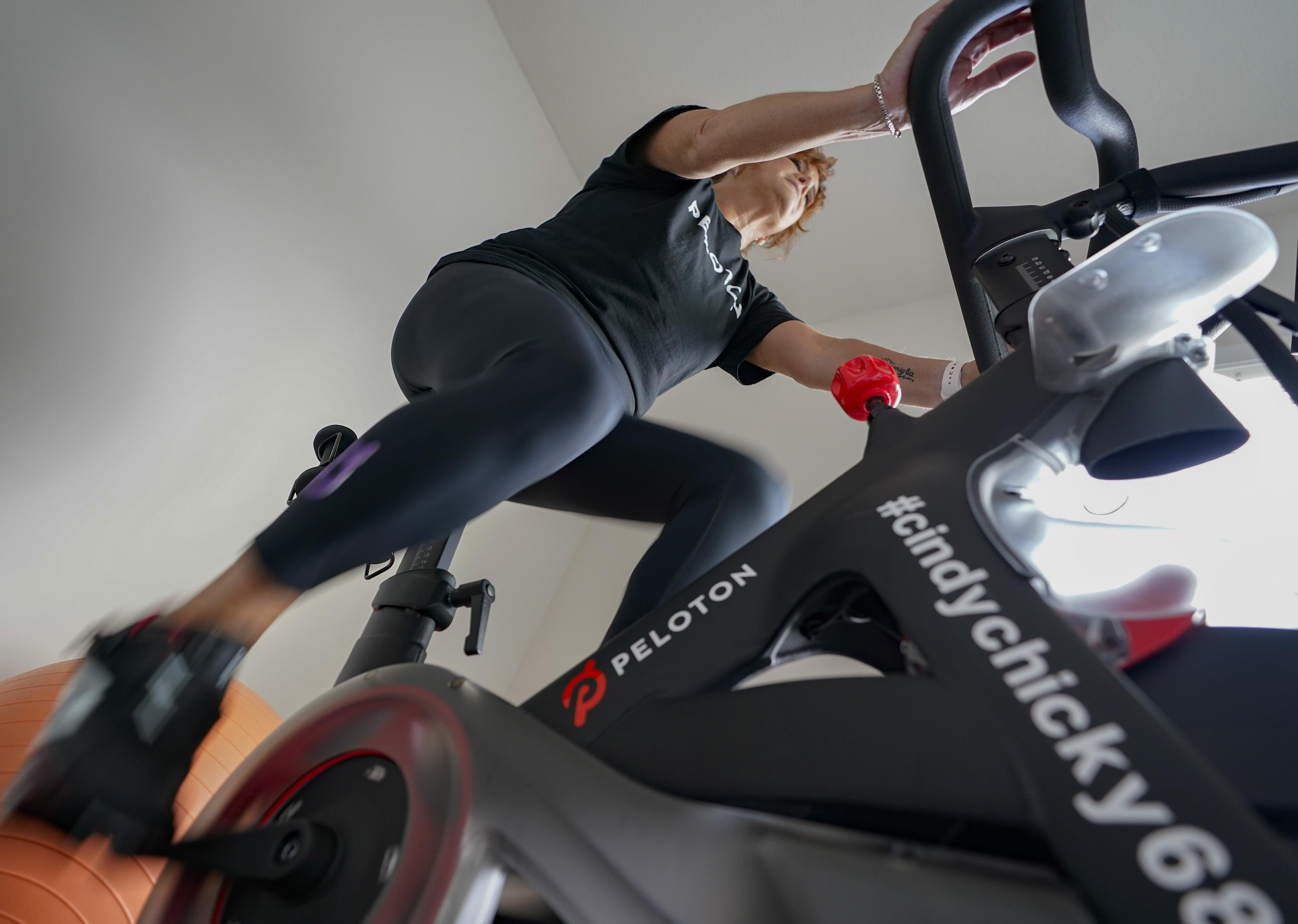TOLEDO, Ohio (AP) — Going to the gym was always part of Kari Hamra's routine until last year's government-ordered shutdowns forced her to replac