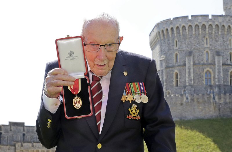 Despite fight against virus, World War II veteran Captain Tom Moore hospitalized with COVID-19