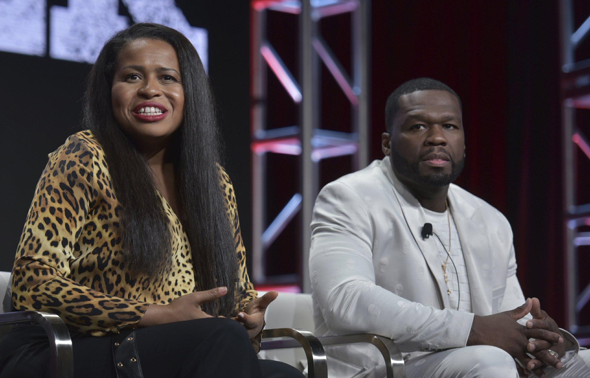 A beaming 50 Cent, tough questions part of TV critics event