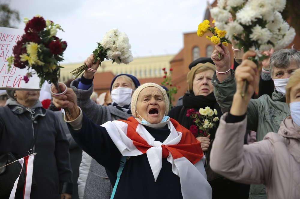 Strikers in Belarus protest for authoritarian leader's ouster