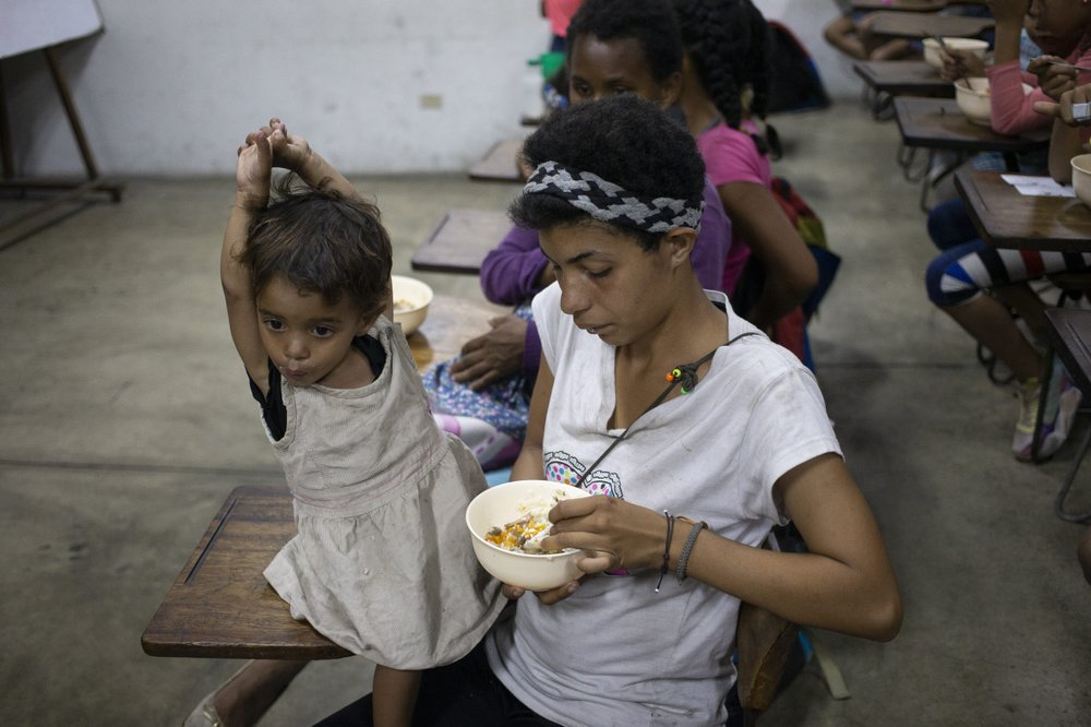 Many Venezuelans struggle to put food on the table in crisis