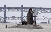 In this photo provided by U.S. Navy, French submarine FNS Amethyste (S605) transits the Thames River in preparation to arrive at Naval Submarine Base New London in Groton, Conn., Sept. 1, 2021. Australia's Prime Minister Scott Morrison on Friday, Sept. 17, rejected Chinese criticism of Australia's new nuclear submarine alliance with the United States and said he doesn't mind that President Joe Biden might have forgotten his name. (Chief Mass Communication Specialist Joshua Karsten/U.S. Navy via AP)