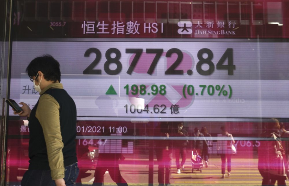 Shares fell across most of Asia, Chinese economy grows