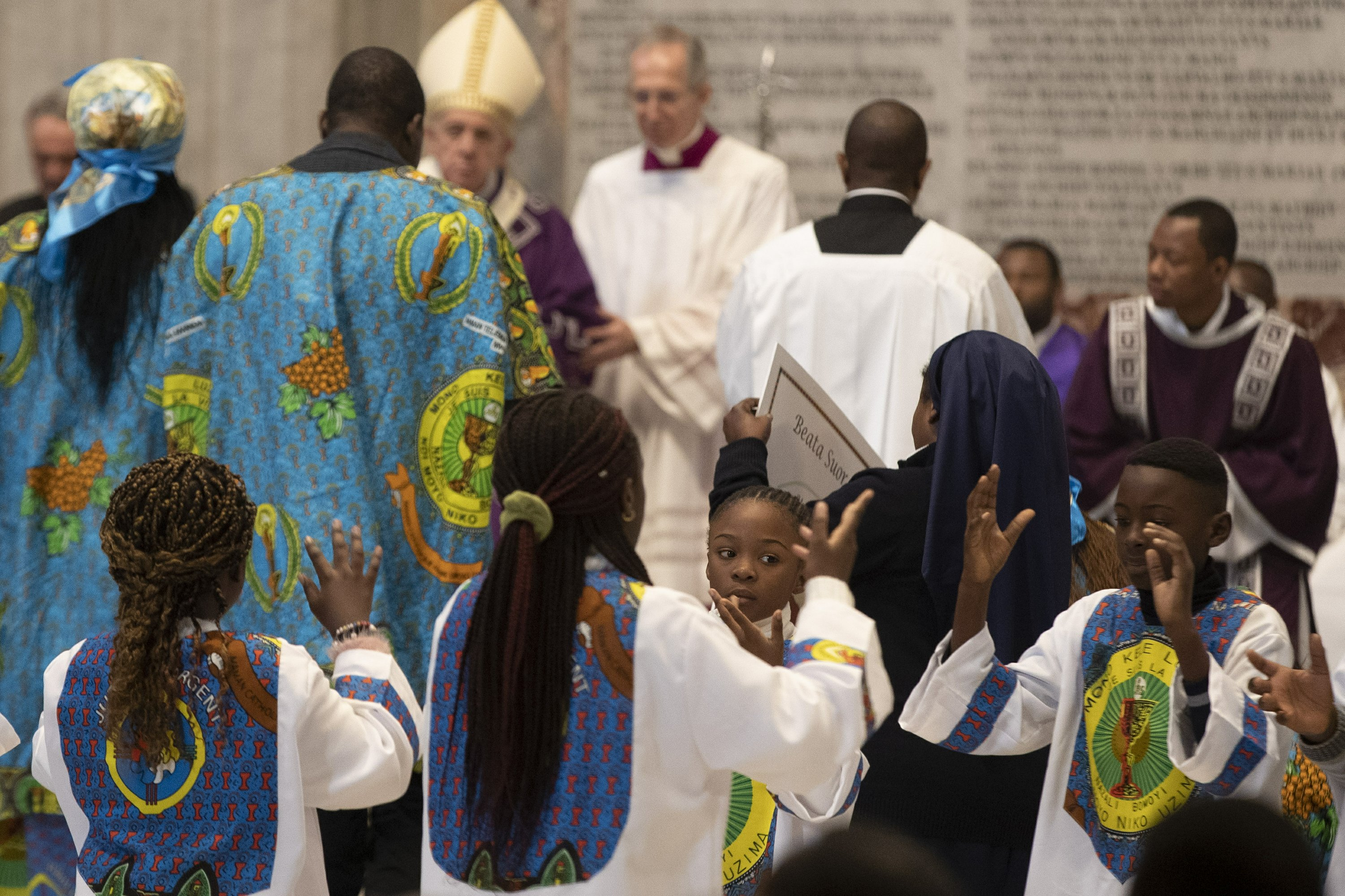 Joyous Congolese dances, songs enliven St. Peter's Basilica
