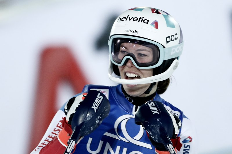 Swiss Skier Gisin Ends Shiffrin Vlhova Winning Slalom Streak