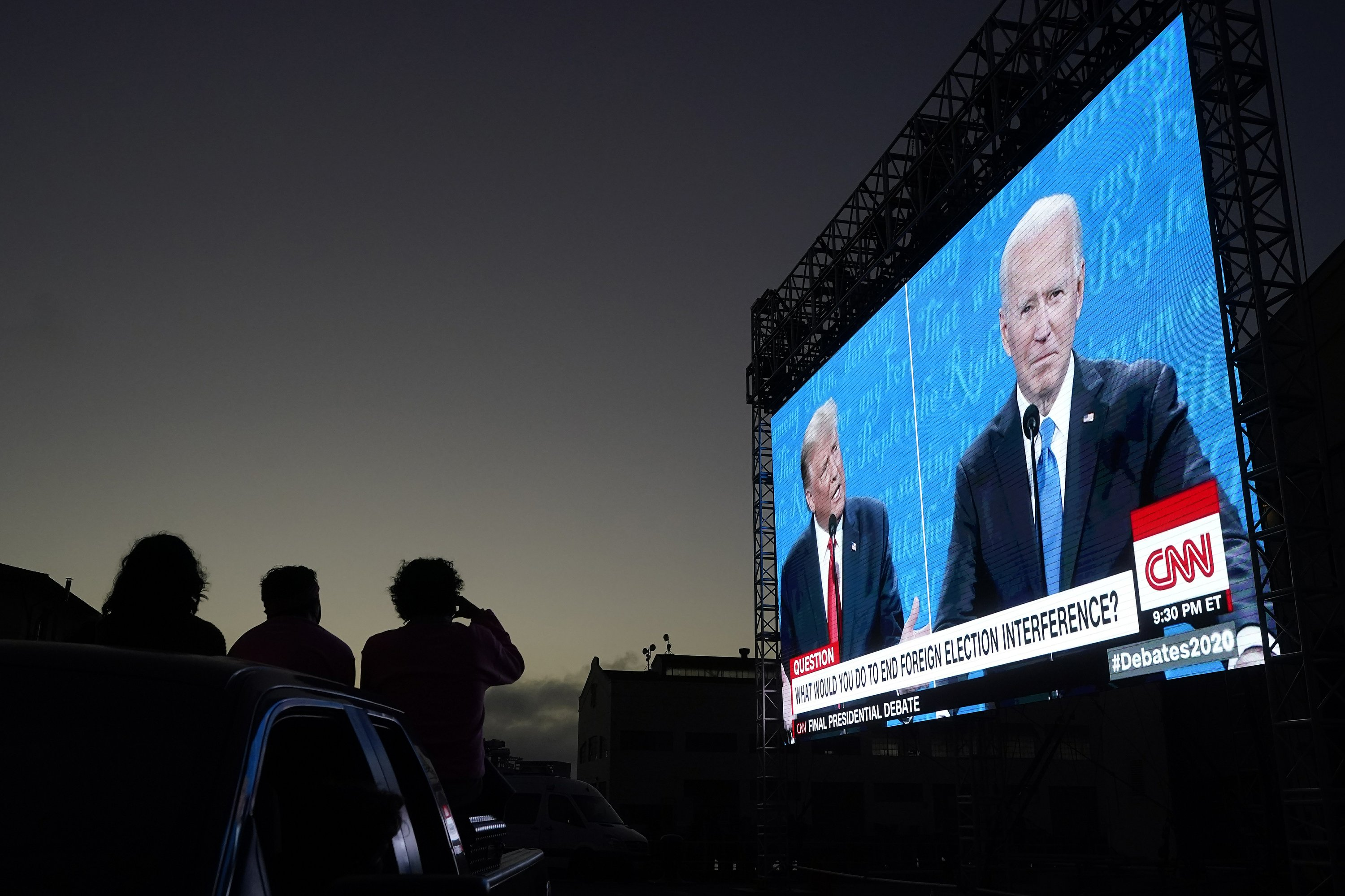 An estimated 63 million people watched the final presidential debate between President Donald Trump and Democratic opponent Joe Biden, according to the Nielsen company. That's 10 million fewer than watched the first debate.