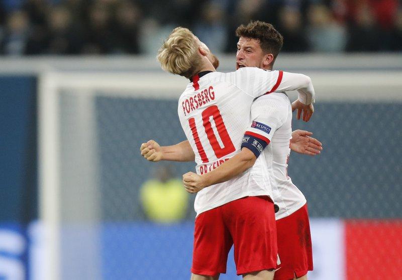 Leipzig beats Zenit 2-0 in Champions League