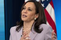 In this June 23, 2021, photo, Vice President Kamala Harrisspeaks in the South Court Auditorium on the White House complex in Washington. Harris faces perhaps the most politically challenging moment of her vice presidency Friday when she heads to the U.S. southern border as part of her role leading the Biden administration's response to a steep increase in migration. (AP Photo/Jacquelyn Martin)
