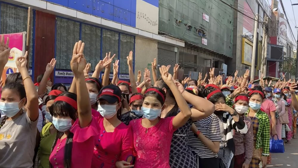 Myanmar new military authorities block internet access as coup protests expand