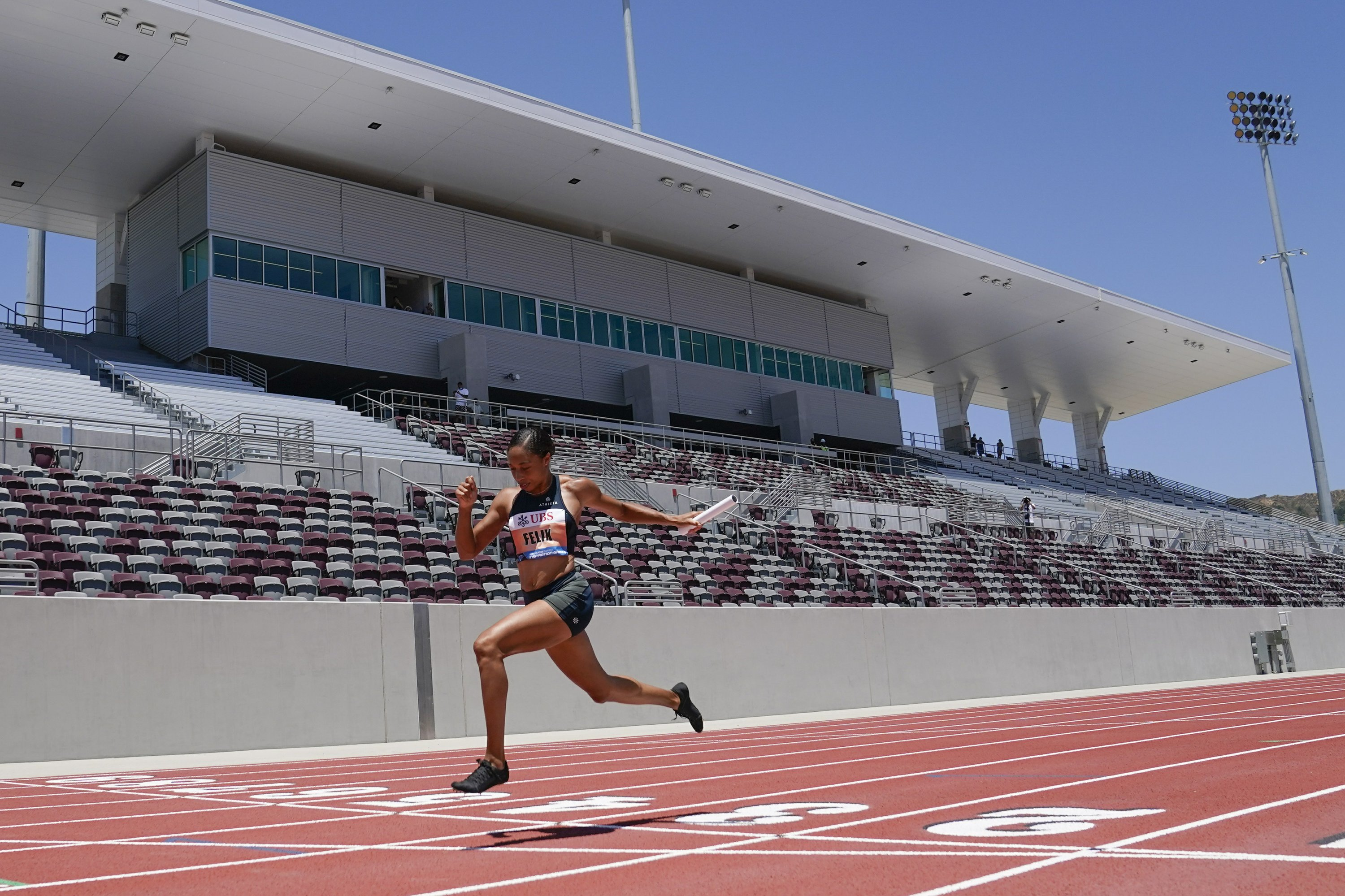 Race glitch for Lyles highlights rare track meet in 2020