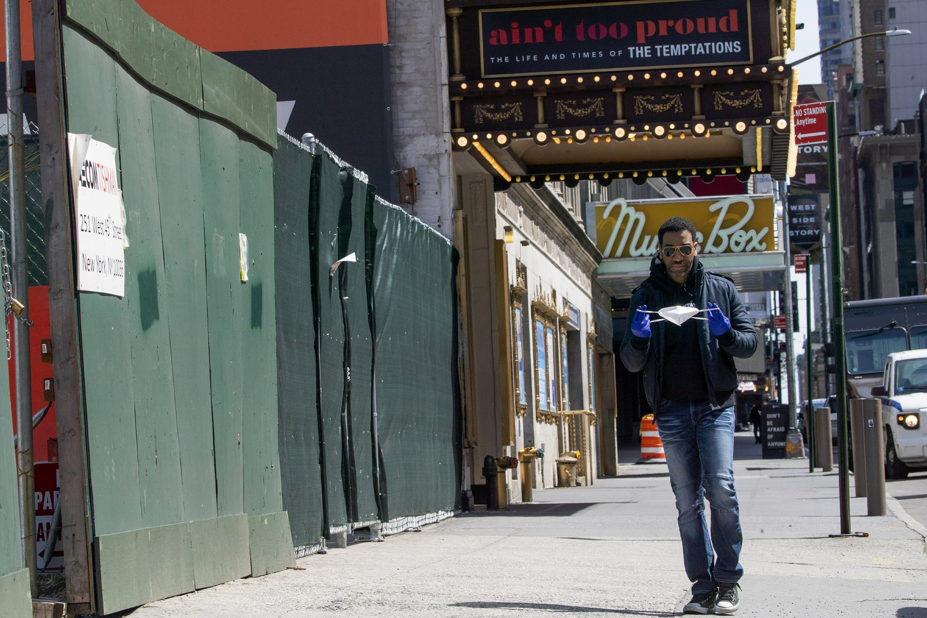 Show can't go on; Broadway actor tries to stay connected