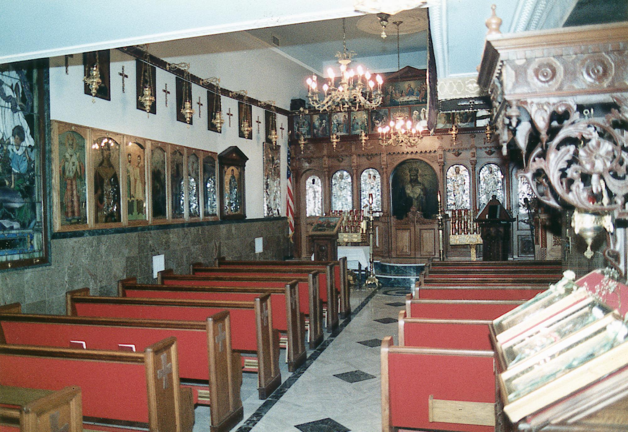 This undated photo provided the Greek Orthodox Archdiocese of America in September 2021 shows the chapel of the former St. Nicholas Greek Orthodox Church, which was located in New York's financial district. St. Nicholas was the only house of worship destroyed in the Sept. 11, 2001 attacks and is currently being rebuilt as a church and national shrine. (Greek Orthodox Archdiocese of America via AP)