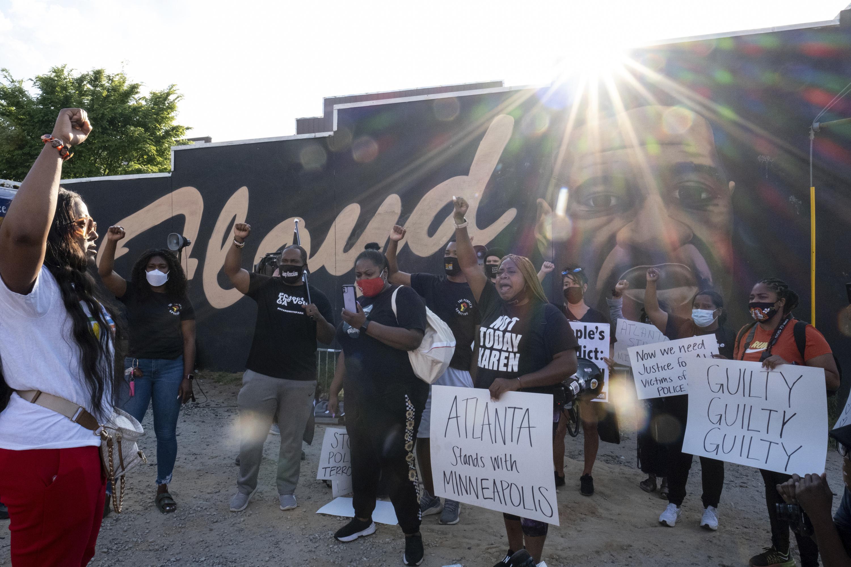 AP PHOTOS: Joy, tears, calls for change after Floyd verdict
