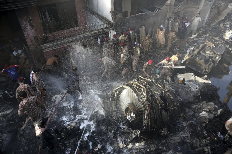 Dozens Dead After Pakistani Passenger Jet With 98 People Onboard Crashes Into Residential Neighborhood in Karachi