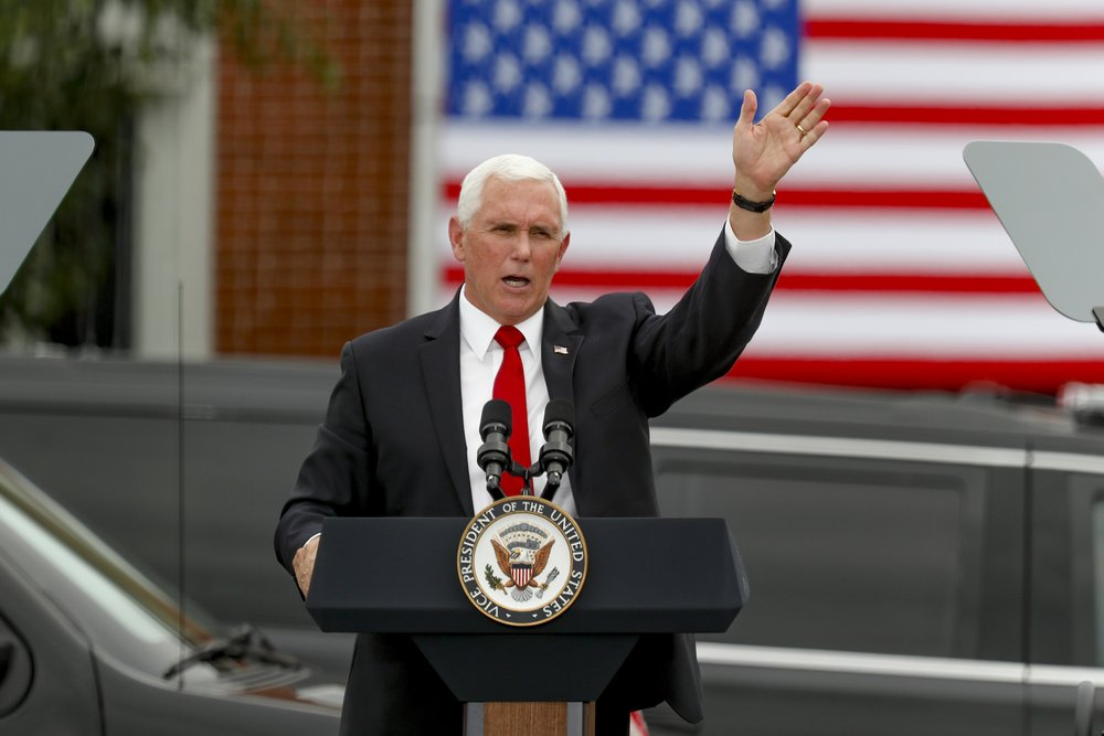 Vice President Mike Pence carries Trump campaign's message of law and order to Pennsylvania