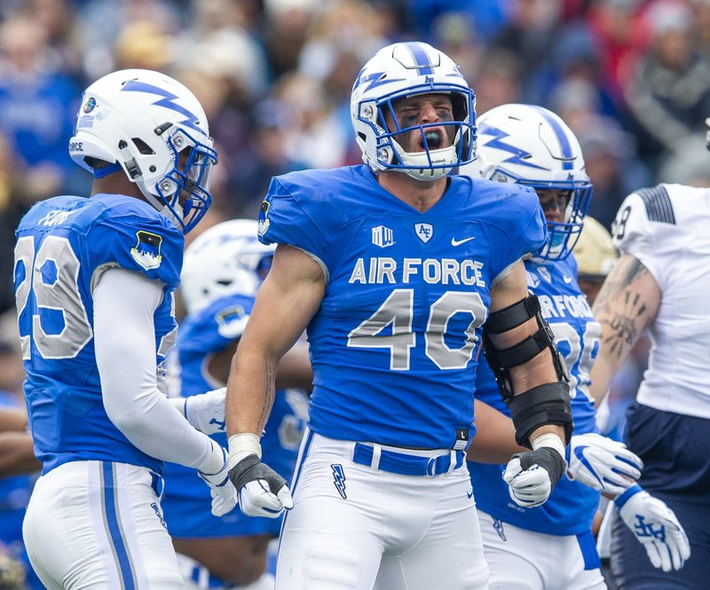 Image result for air force football linebackers