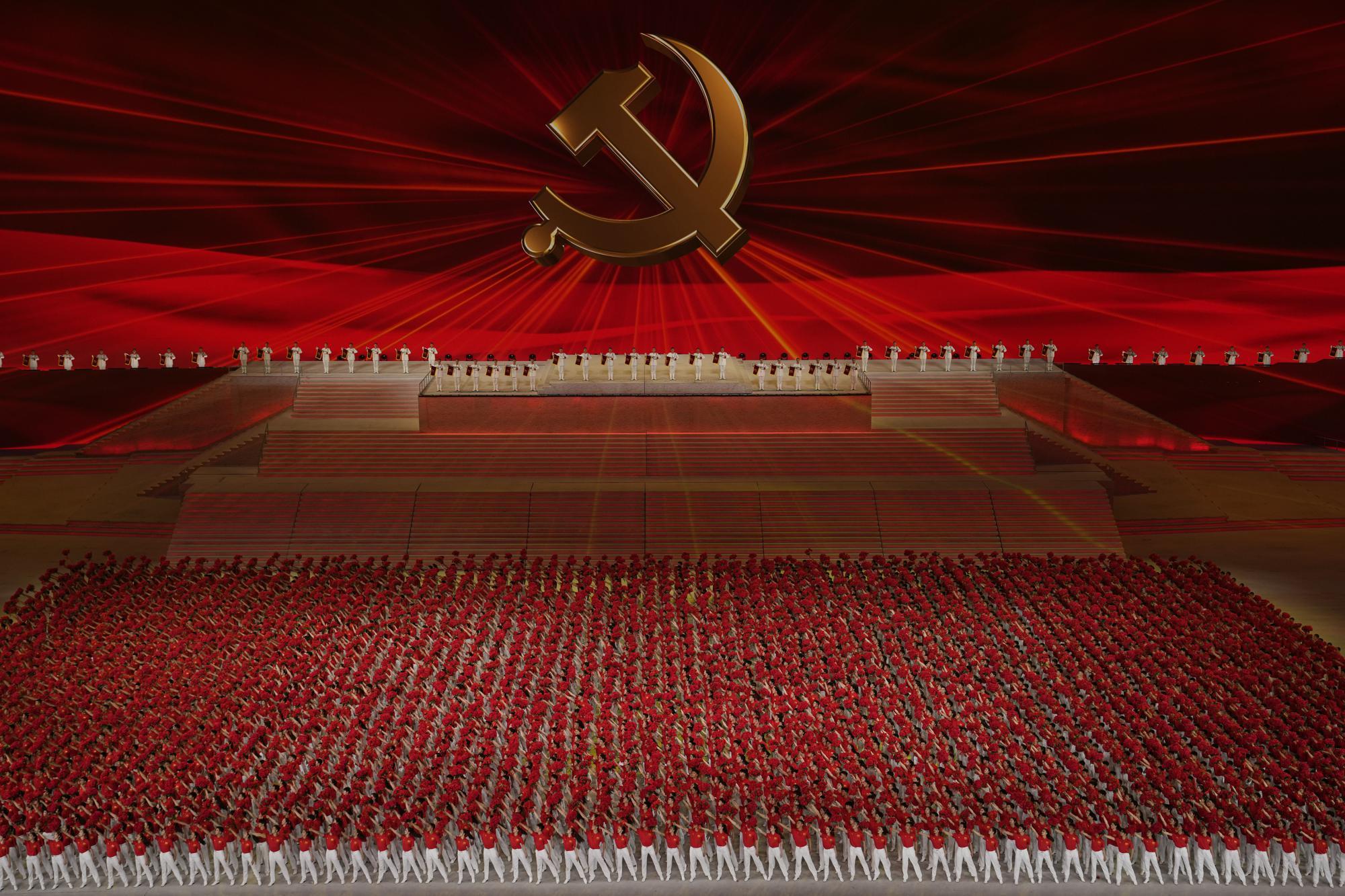 Çin Komünist Partisi'nin 100. Yıl Dönümü kutlamalarına dair bir organizasyon.