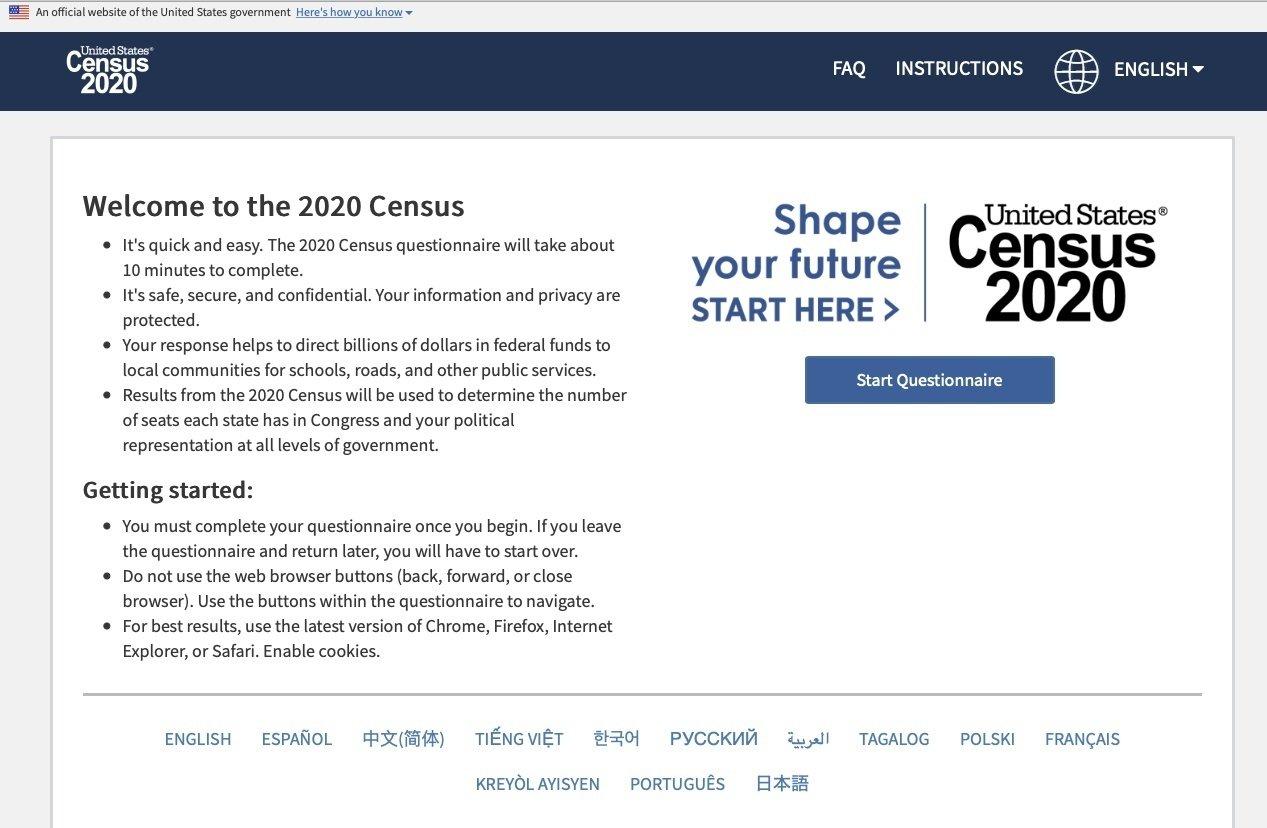 Online Census form