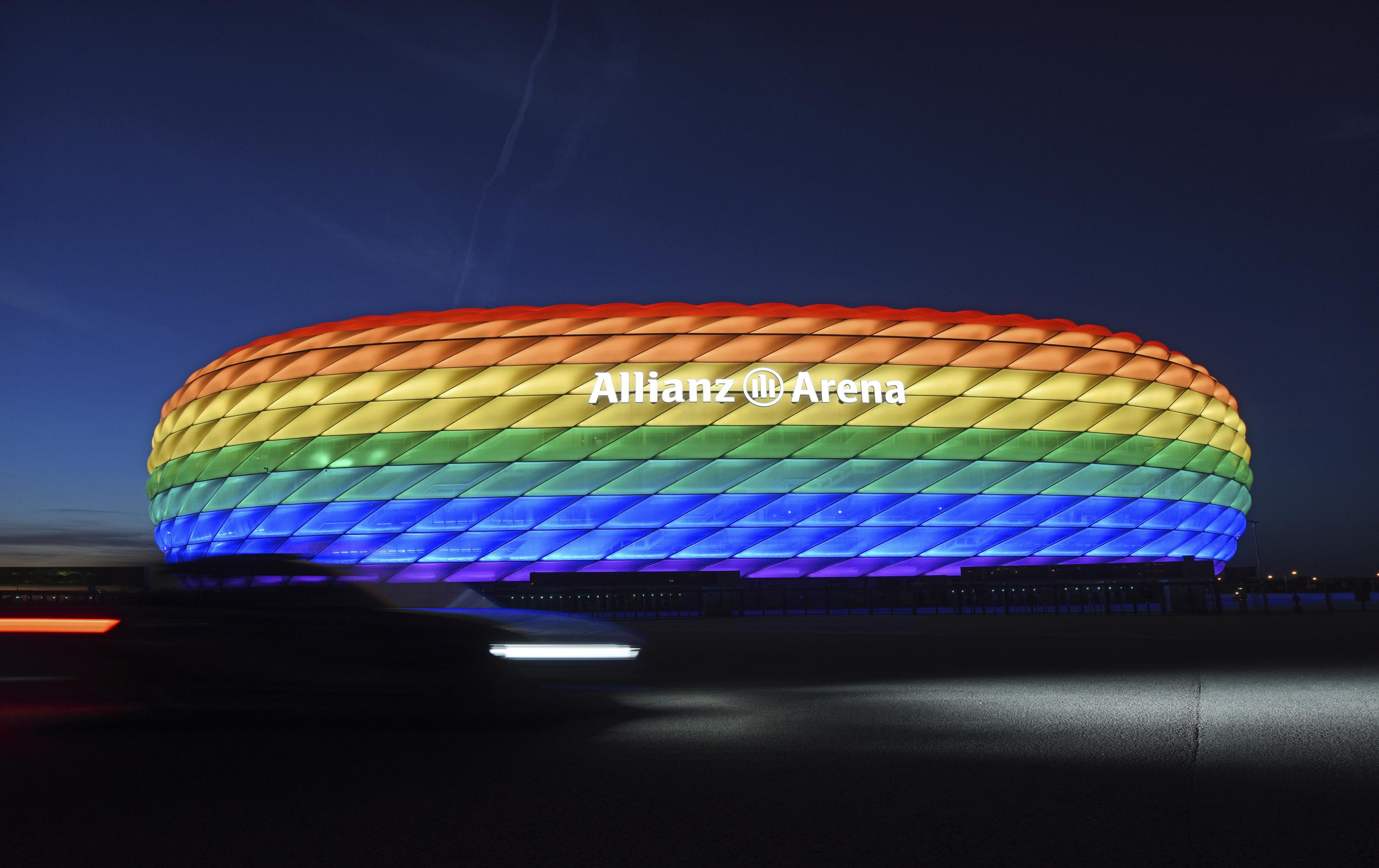 UEFA declines Munich application for rainbow-colored stadium - The Associated Press