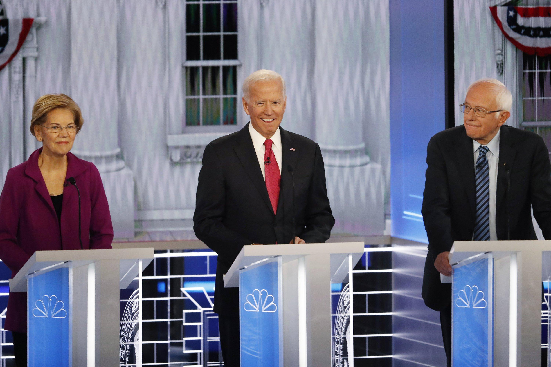 <b>Democrats spar at debate over health care, how to beat Trump</b>