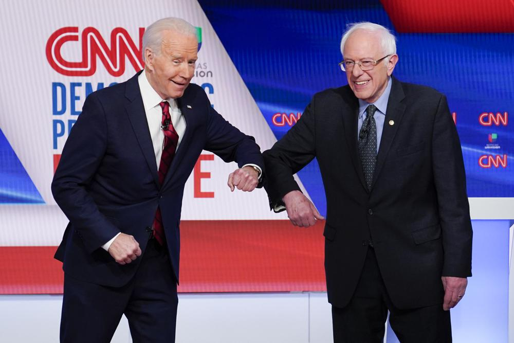 Bernie Sanders and Joe Biden join forces against Donald Trump