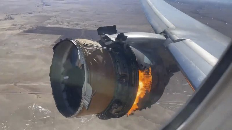 Why did the plane's engine exploded over Denver?