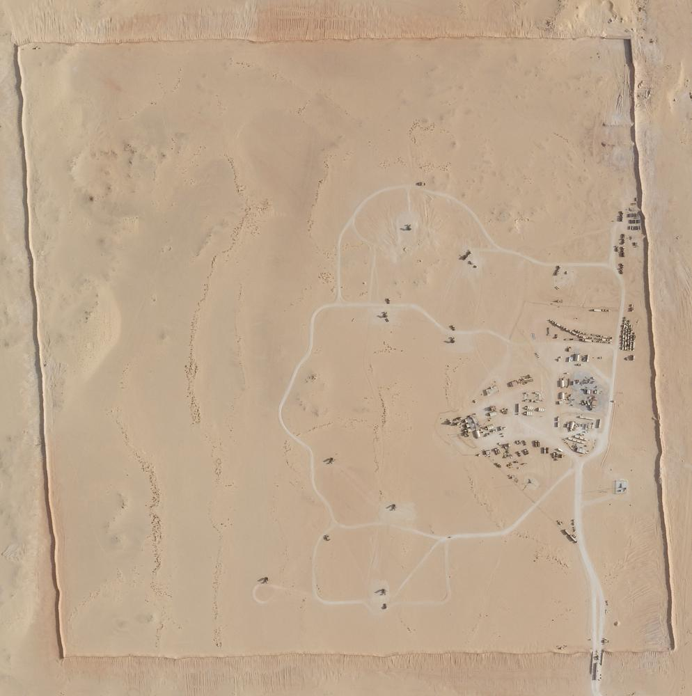 In this satellite photo provided by Planet Labs Inc., an area of Prince Sultan Air Base in Saudi Arabia sees Patriot missile batteries stationed with one advanced Terminal High Altitude Air Defense unit on Aug. 9, 2021. The U.S. has removed its most advanced missile defense system and Patriot batteries from Saudi Arabia in recent weeks, even as the kingdom faced continued air attacks from Yemen's Houthi rebels, satellite photos analyzed by The Associated Press show. (Planet Labs Inc. via AP)
