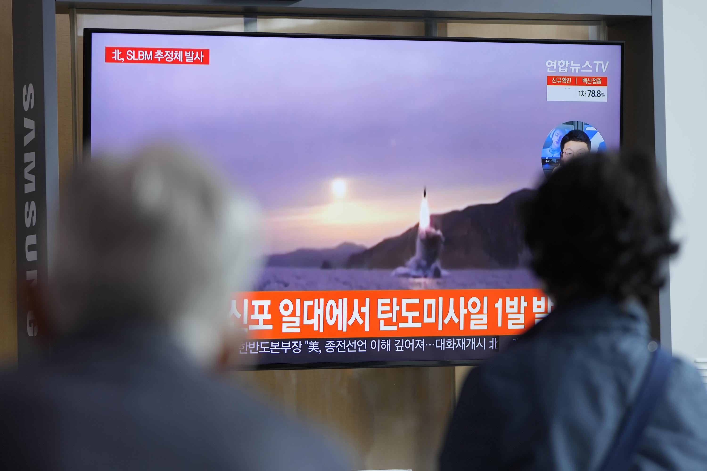 North Korea fires ballistic missile into sea in latest test