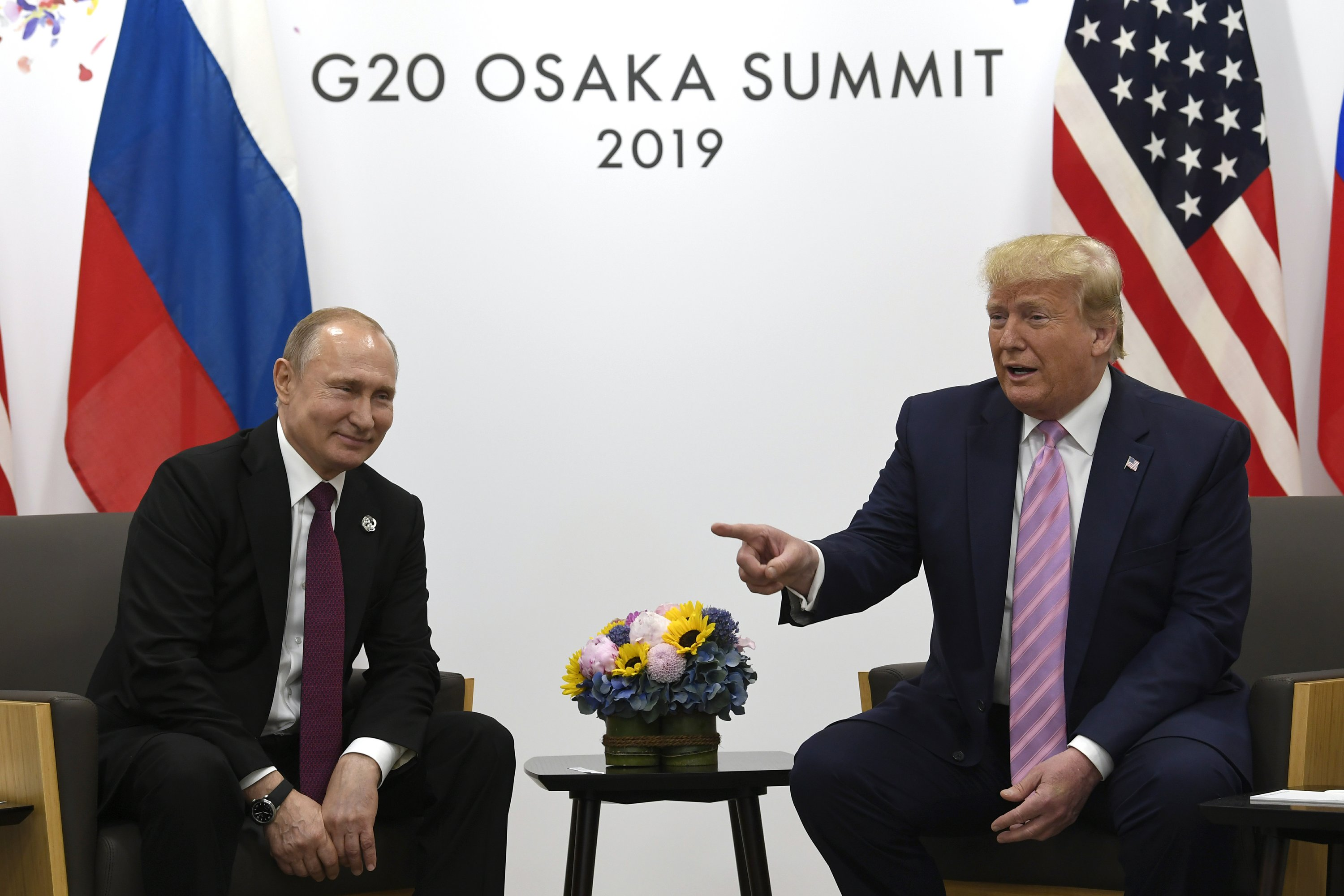 Image result for PHOTOS TRUMP PUTIN OSAKA G20