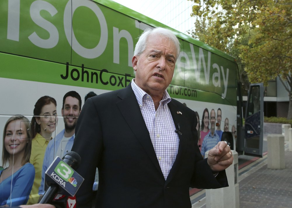 Republican John Cox opens run for governor of California with TV ad hitting rival