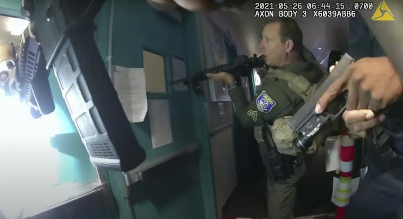 Police release dramatic body-cam video of rail yard shooting today