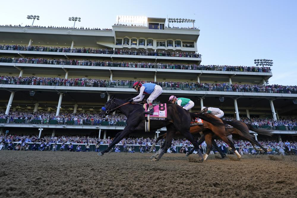 Medina Spirit wins by a half-length in Kentucky Derby; 7th Derby win for Baffert