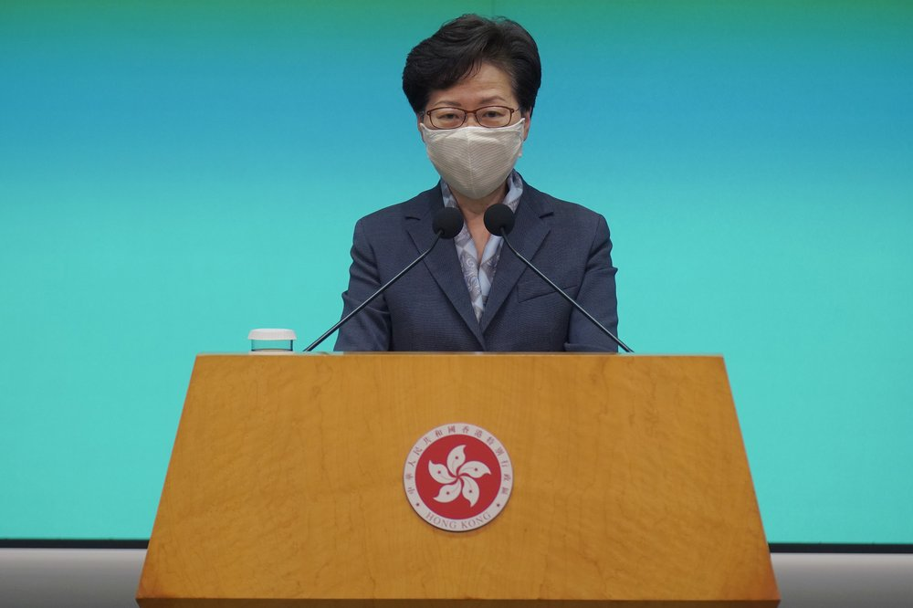 So as not to repeat history, Hong Kong leader says all should learn from this past year of protests