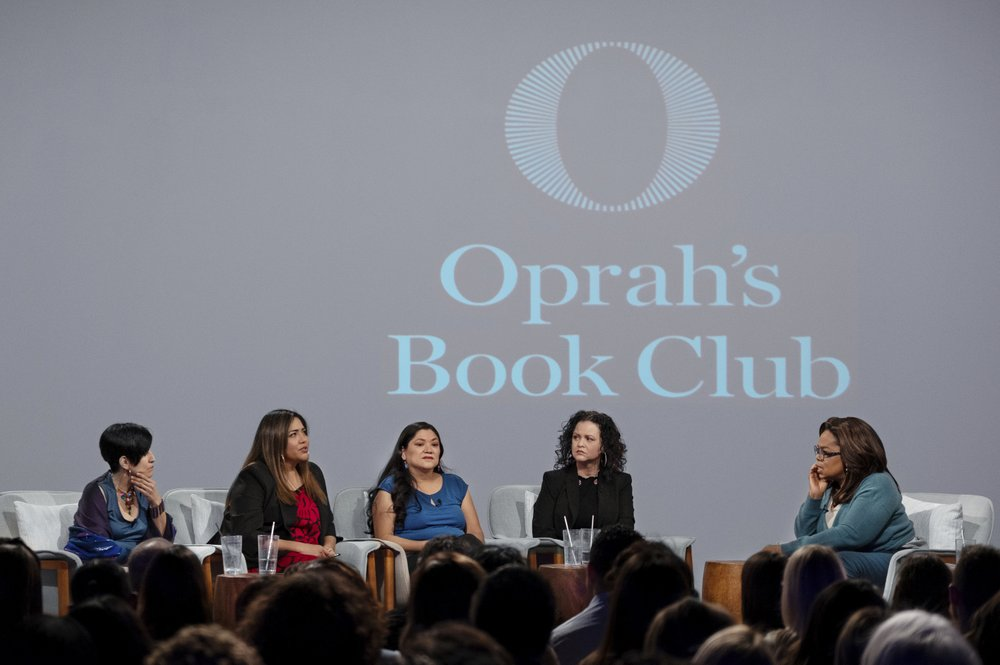 "Oprah turns the tables and places forum on book ""American Dirt"" into a debate about the marginalization of Latino voices, lack of diversity in publishing, and the question of who's best suited to tell a story"