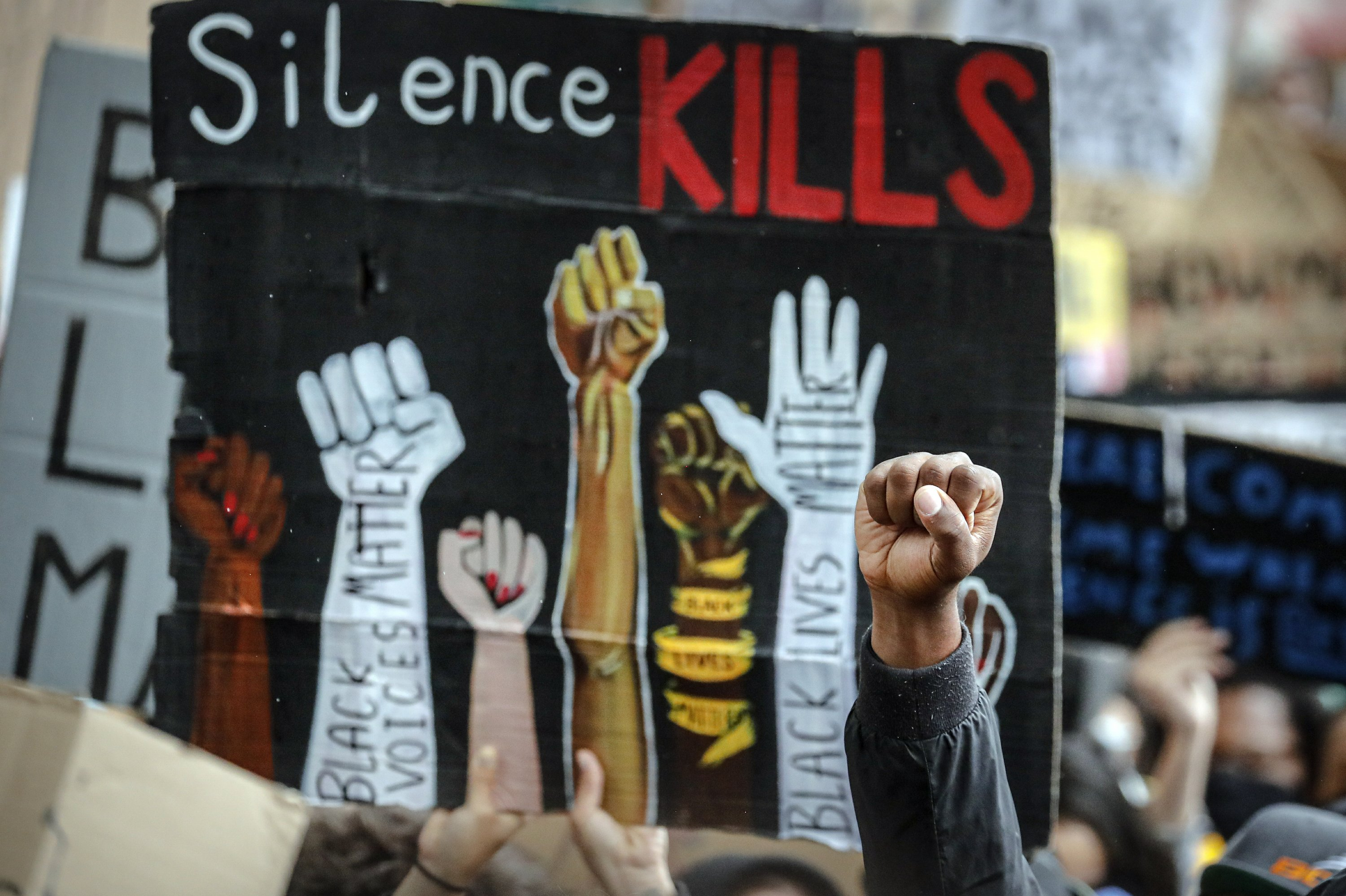 Protests support Floyd, Black Lives Matter on 4 continents