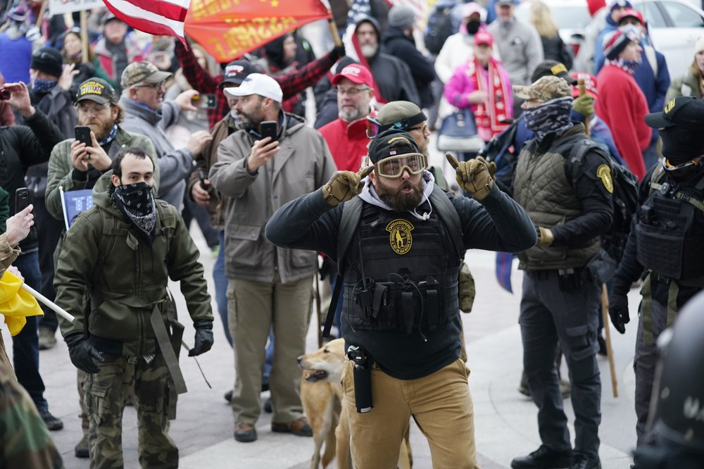 Extremist groups that stormed Capitol isn't retreating