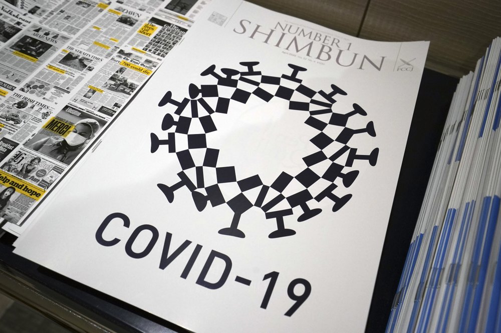 Drawing combining the Tokyo Olympic logo and features of the the COVID-19 virus is being removed from the website of the Foreign Correspondents' Club of Japan