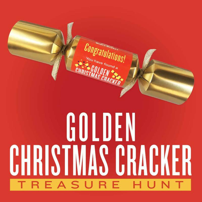 Cost Plus World Market Launches Its Golden Christmas Cracker