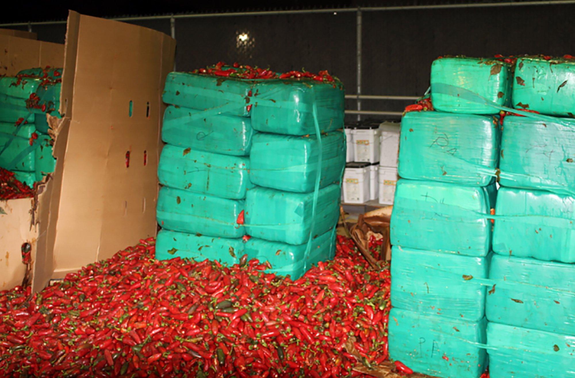 Officials seize marijuana mixed with jalapeño peppers