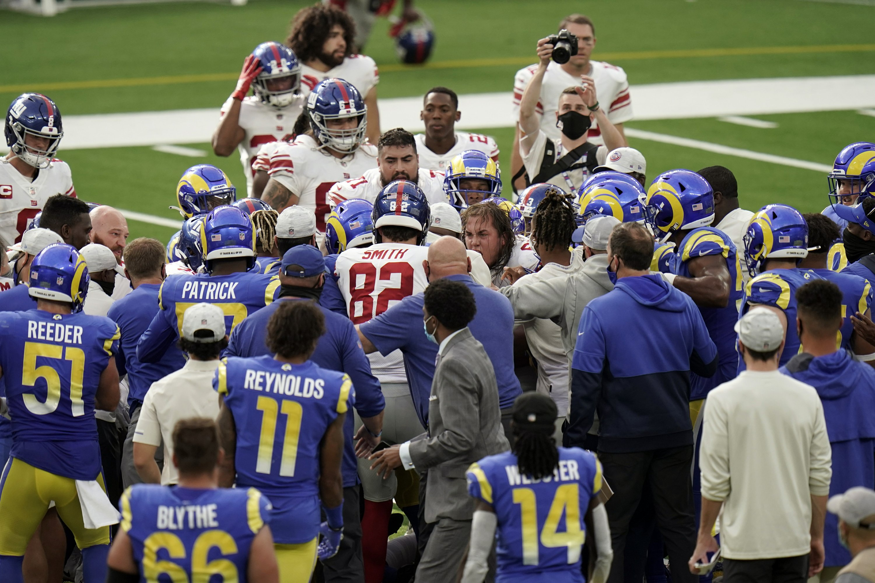 Family Feud Giants Tate Rams Ramsey In Postgame Fracas Tate was born breanna edna tate on april 4, 1995, in tennessee; family feud giants tate rams ramsey