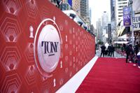 A view of the red carpet at the 74th annual Tony Awards at Winter Garden Theatre on Sunday, Sept. 26, 2021, in New York. (Photo by Evan Agostini/Invision/AP)