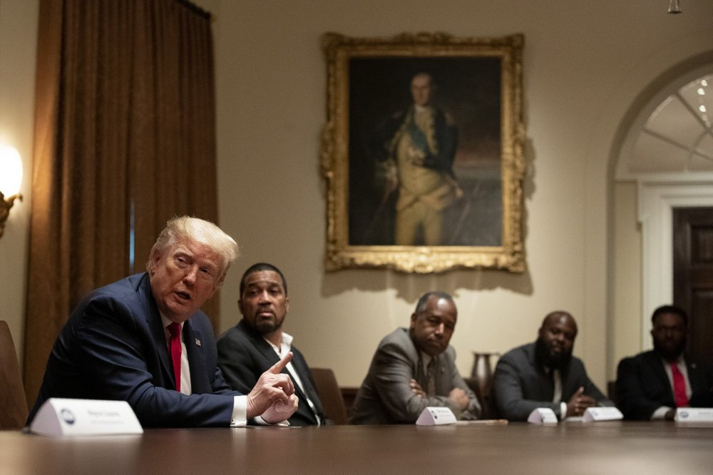 We're not hearing much from President Trump on the racism in America