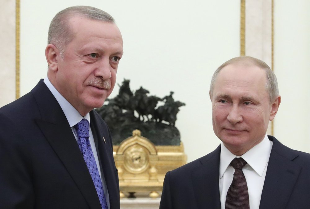 Putin and Erdogan discuss measures to take for ending hostilities in Syria involving their forces and proxies that threaten to pit the two countries against each other