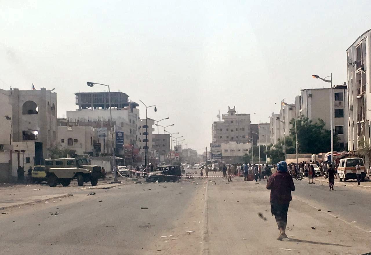 Rebel missile attack, suicide bombs kill 51 in Yemen's Aden