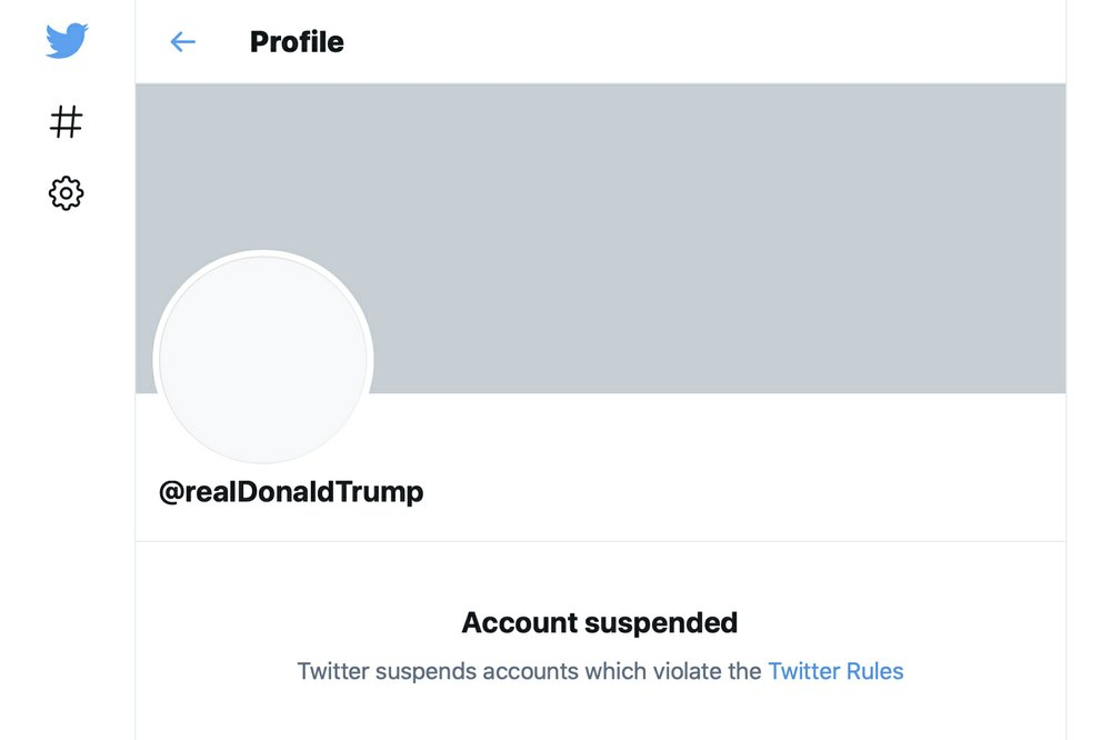 """Twitter bans President Trump's account citing risk of """"further incitement"""" following the insurrection at the U.S. Capitol"""